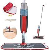 Fixget Wischmopp, Bodenwischer mit Sprühfunktion Spray Mop mit 300ml Wassertank Wischer Mopps für Boden Reinigung Sprühwischer und 2-Mikrofaserbezug