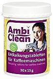 AmbiClean Entkalker-Tabletten in der Dose für Kaffeevollautomat, Kaffee-Maschine und Wasserkocher, Kalk-Entferner für alle Geräte-Marken – 30 Tabletten je 15 g