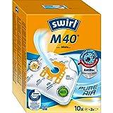 Swirl M 40 MicroPor Plus Staubsaugerbeutel für Miele Staubsauger   Anti-Allergen-Filter   Dauerhaft hohe Saugleistung   10er Pack inkl. 2 Filter