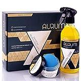 Aurum-Performance® Reinigungsknete mit Gleitmittel zur professionellen Autopflege - Entfernt mühelos Flugrost, Insektenreste, Lackablagerungen - nanoClay Set (Lackknete mild + Spezial Gleitspray)