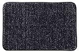 Lifewit Indoor Fußmatte Mikrofaser Super Absorbent Water Low Profile Mats Maschinenwaschbar Rutschfester Gummi-Einstiegsteppich für die Innentür der Matten, Grau, 90 x 60 cm