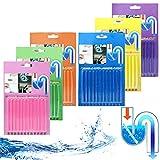 72 Stück Drain Cleaner Sticks - Stoppe stinkende & verstopfte Abflüsse | Enzymreiniger für verstopfte Rohre in Bad, Dusche und Küche | Rohrreiniger/Abflussreiniger für Spülbecken
